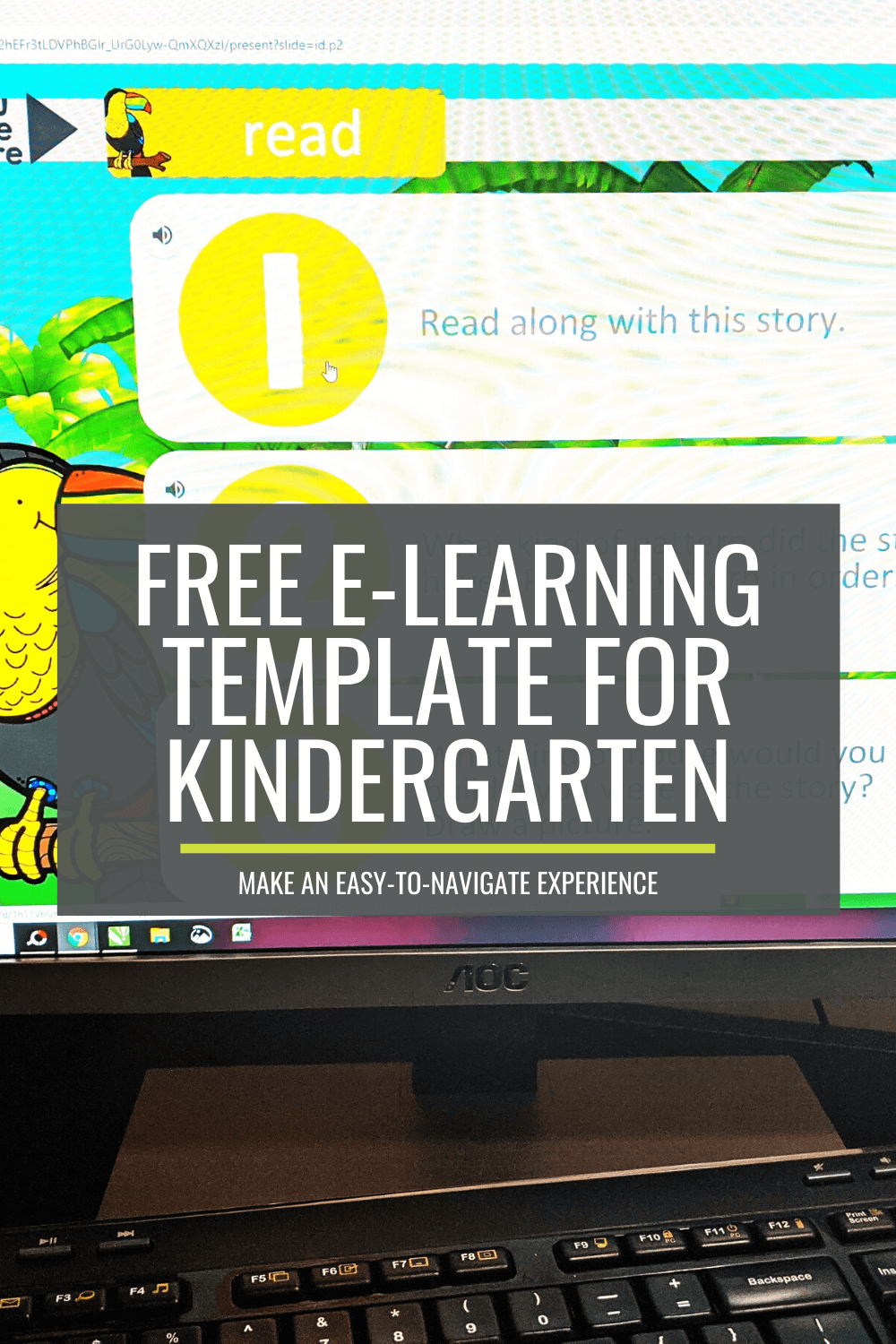 Free, Easy-to-Navigate eLearning Template for Kindergarten