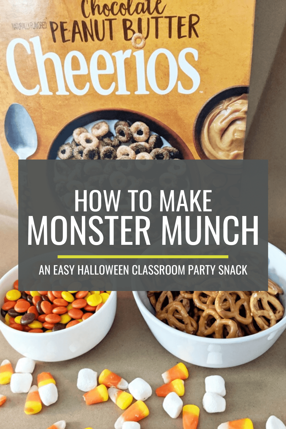 How to Make Monster Munch for a Halloween Classroom Snack