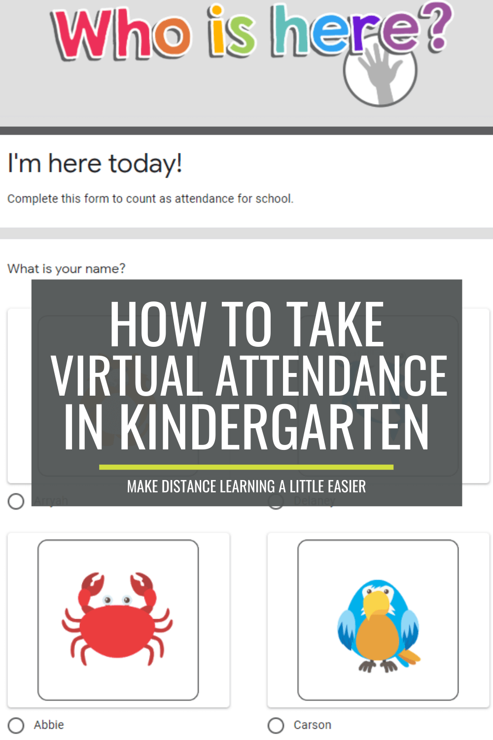 How to Take Virtual Attendance in Kindergarten