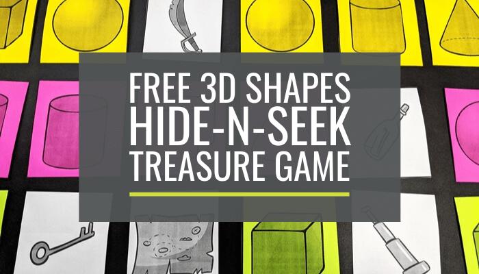 3D Shapes Hide-n-Seek Pirate Treasure Game for Kindergarten