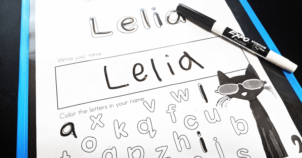 Free Name Writing Practice Sheet For Kindergarten – KindergartenWorks