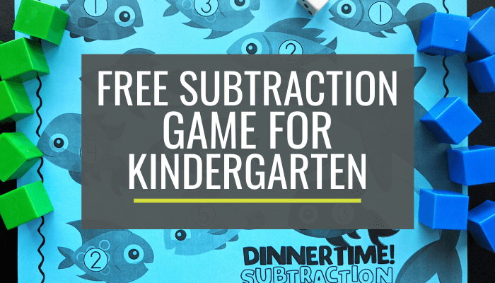 Free Fishy Kindergarten Subtraction Game