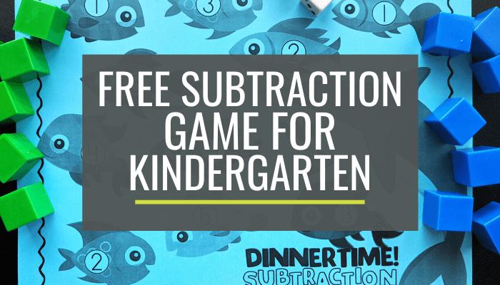Free Fishy Kindergarten Subtraction Game