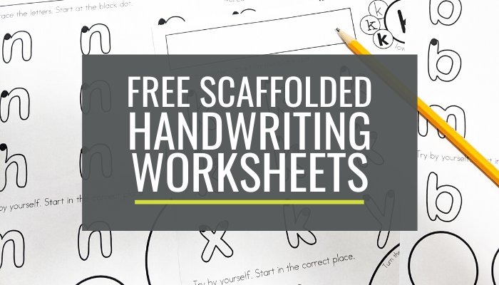 Free Handwriting Worksheets for kindergarten lowercase a-z