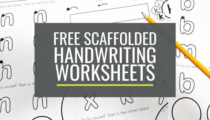 Free Scaffolded Handwriting Worksheets For Kindergarten: Lowercase A-z –  KindergartenWorks