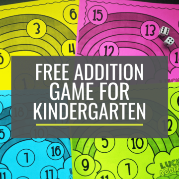 Free Lucky Rainbow Addition Game for Kindergarten