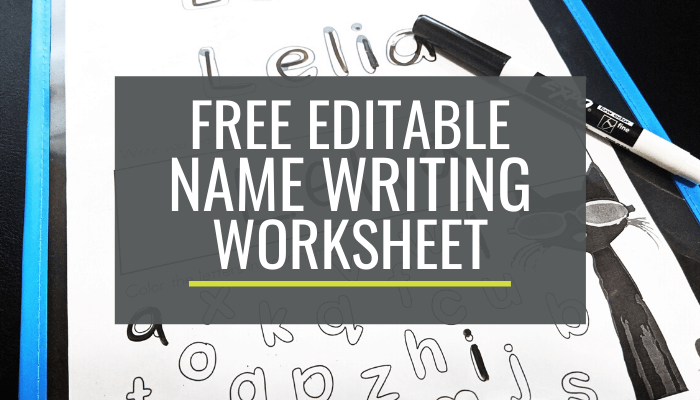 Free Name Handwriting Worksheet for Kindergarten