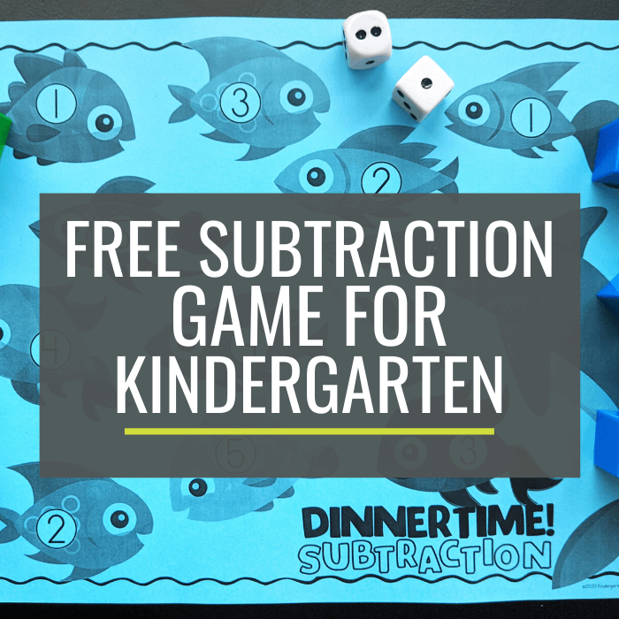 Free Ocean Subtraction Game for Kindergarten