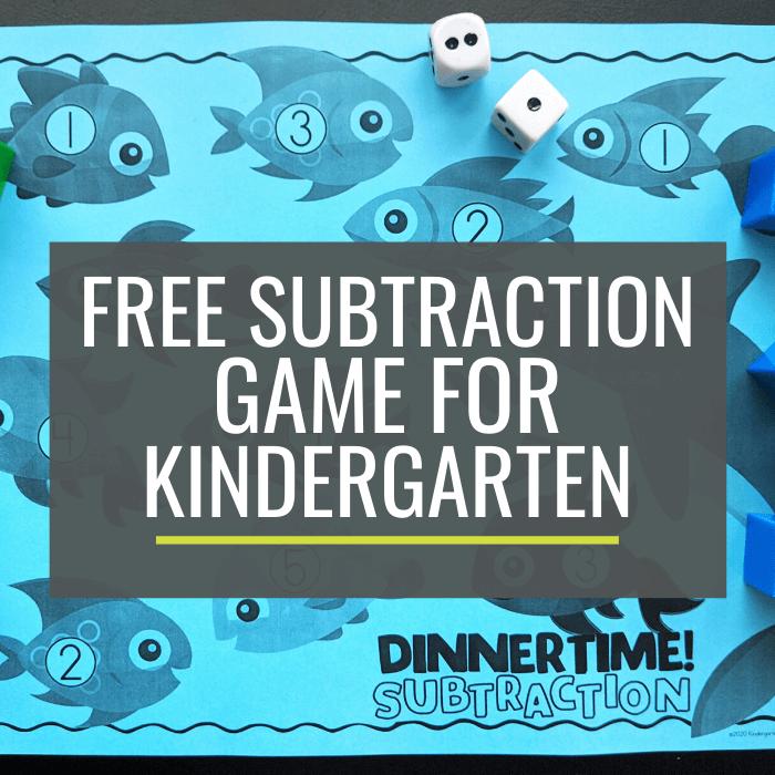 Free Ocean Subtraction Game for Kindergarten