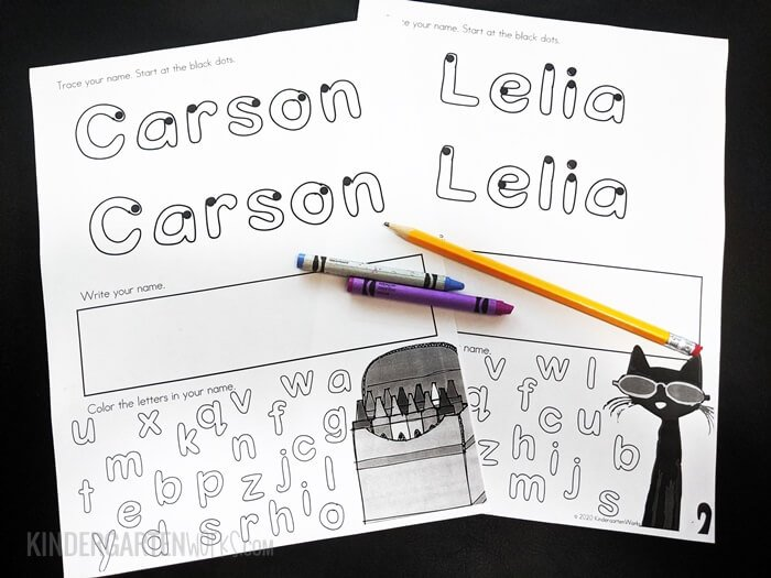 How to make editable name handwriting worksheets for kindergarten
