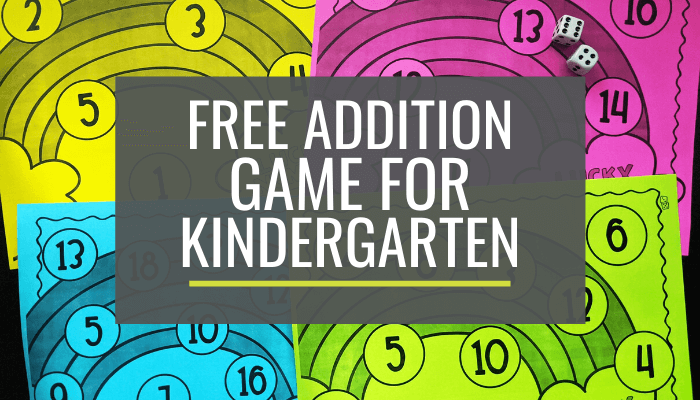 Kindergarten Lucky Rainbow Addition Bump Game Printable