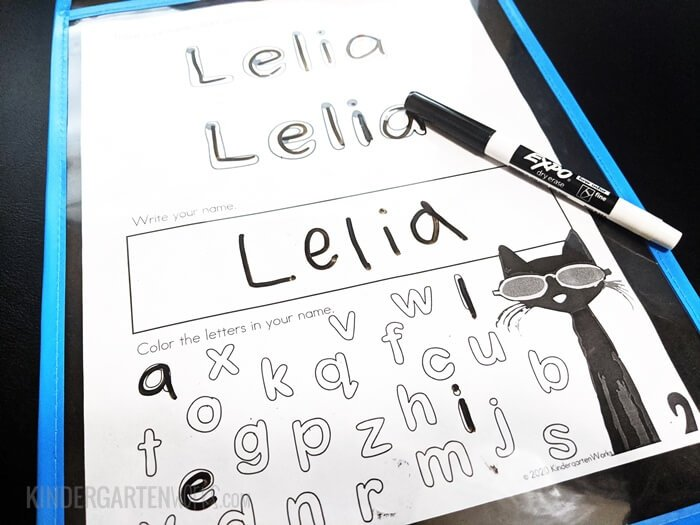 Learn to write name for kindergarten