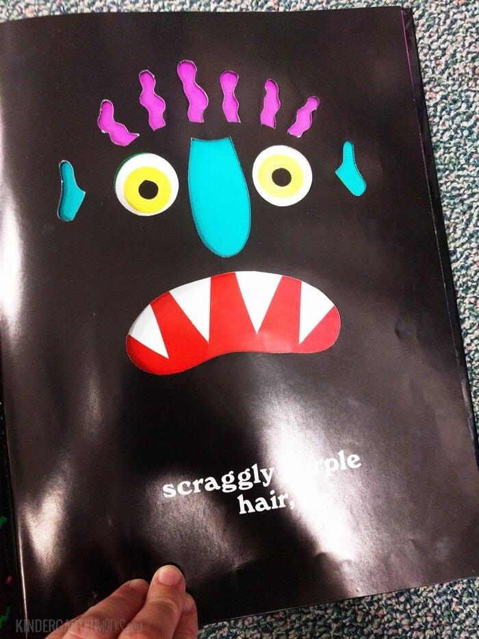 Go Away Big Green Monster Read aloud with art Project for Kindergarten