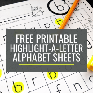 Free Highlight-a-Letter Sheets for Kindergarten