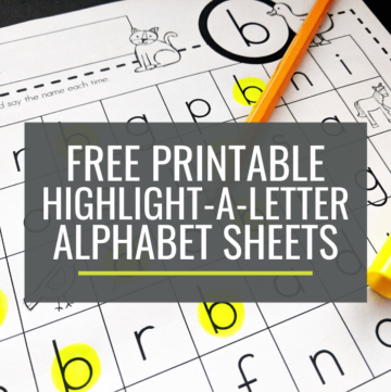 Free Highlight-a-Letter Sheets for Kindergarten