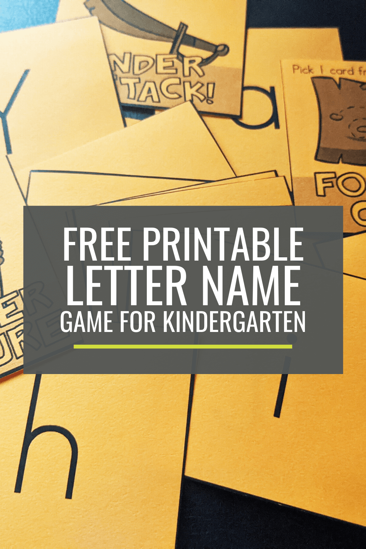Free Letter Name Game for Kindergarten: Treasure Quest