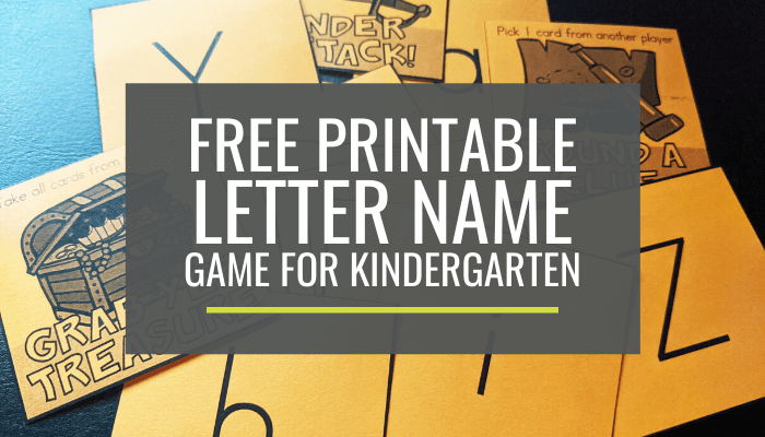 Free Letter Name Game for Kindergarten