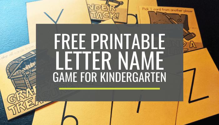 Free Letter Name Game for Kindergarten