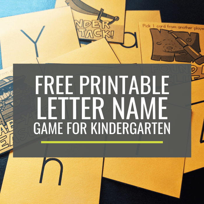 Free Letter Name Game for Kindergarten_ Treasure Quest