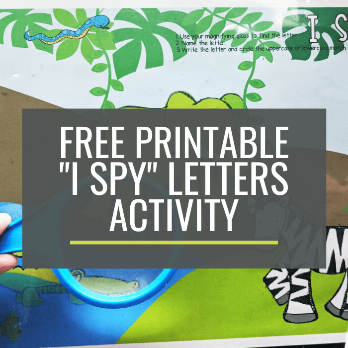 Free Naming Letters Activity for Kindergarten I Spy Jungle Letters