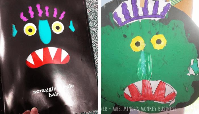 Go Away Big Green Monster Craft Project for Kindergarten