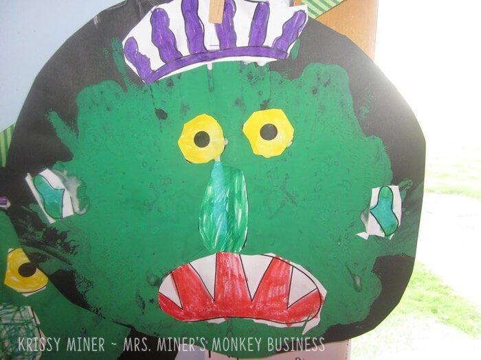 Go Away Big Green Monster Painting Art Project for Kindergarten