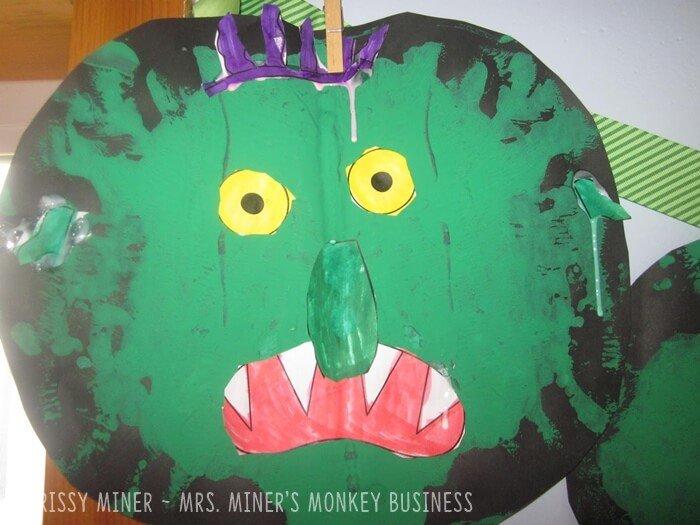 Go Away Big Green MonsterSymmetry Project for Kindergarten