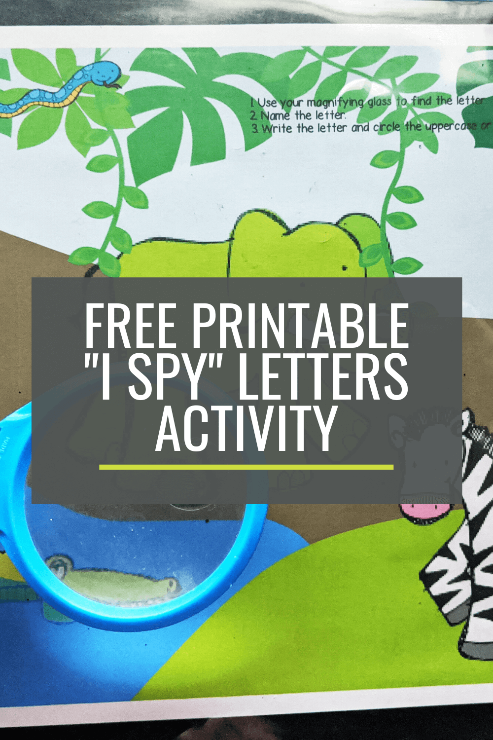 Free Naming Letters Activity: I Spy Jungle Letters