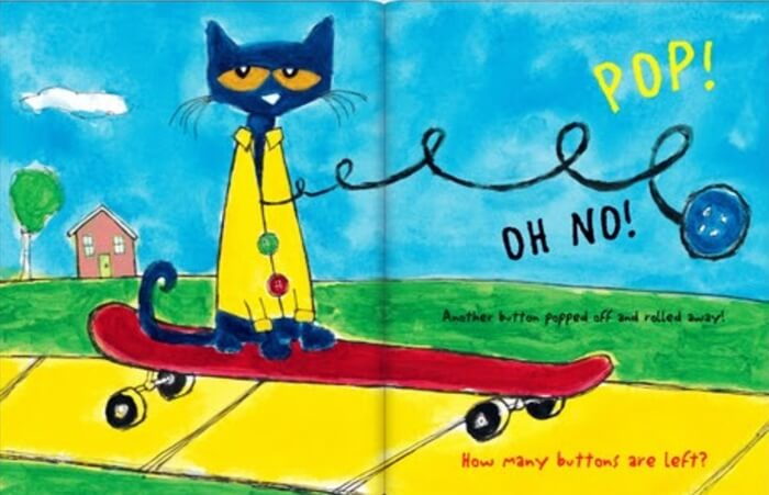 Page excerpt from Pete the Cat Buttons