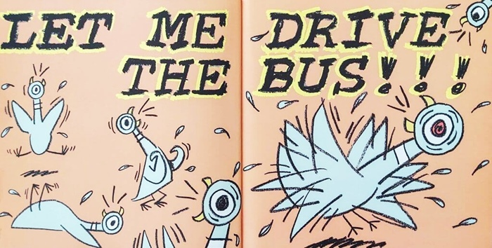 Page excerpt from Don't Let the Pigeon Drive the Bus