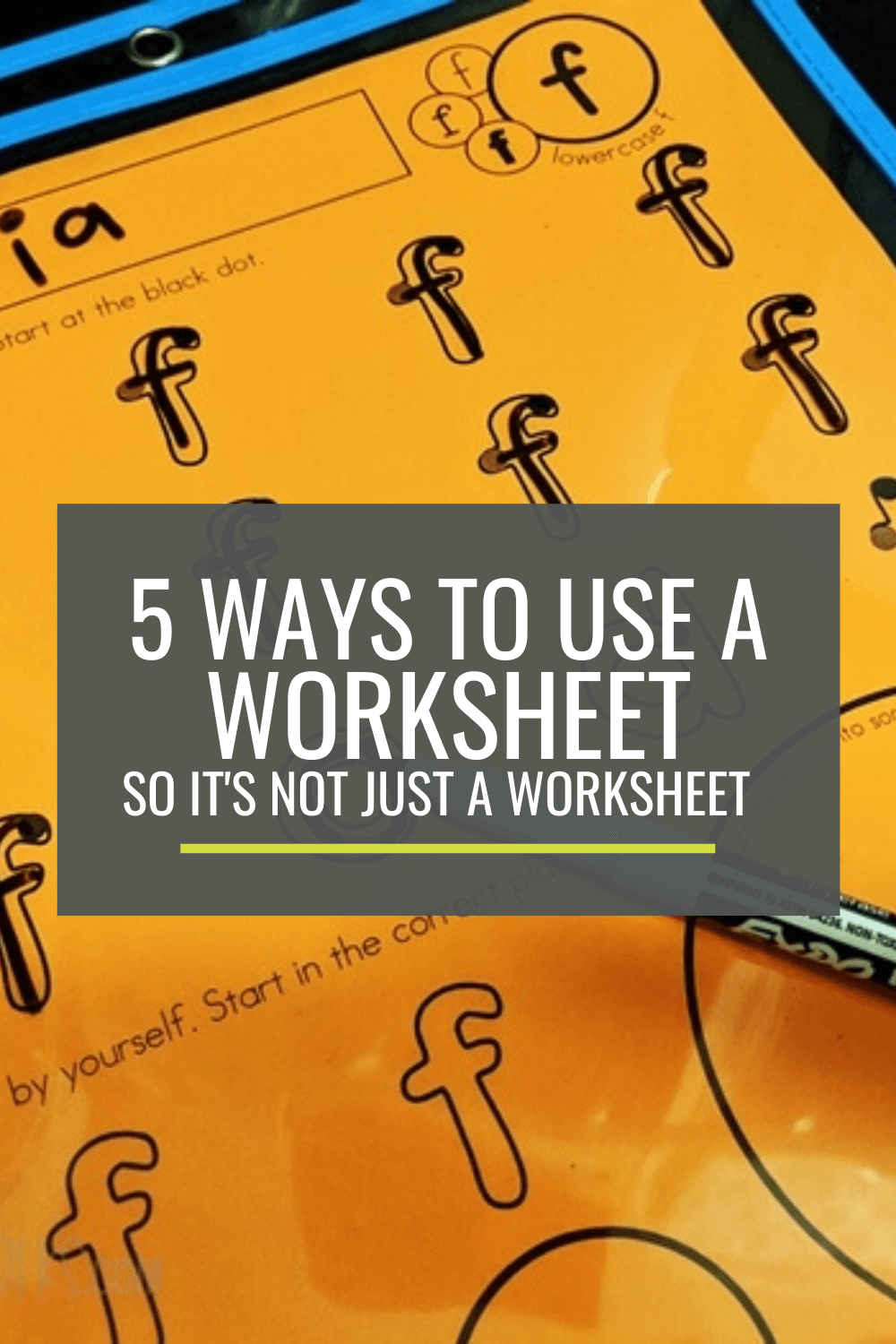 5 Ways to Use a Worksheet So It\'s Not Just a Worksheet
